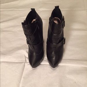 Black ankle boots by Bakers