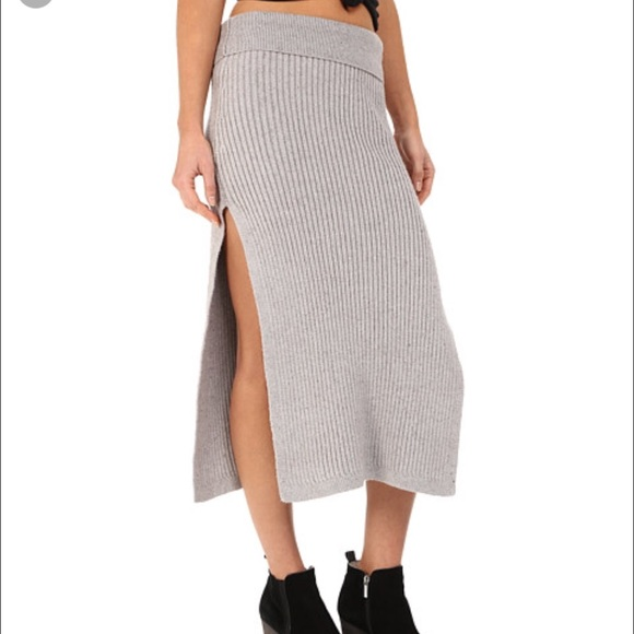 66% off Free People Dresses & Skirts - Free people light grey maxi ...
