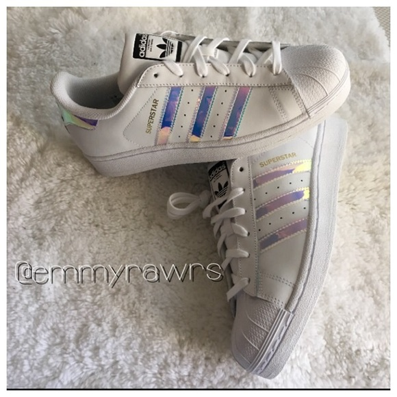 dad80ed76a6 Adidas Superstars Iridescent Hologram Sneakers