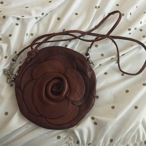 Handbags - Italian Leather Flower Purse