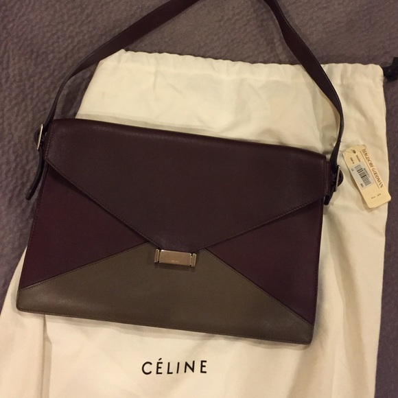 Celine Handbags - 100% auth new with tag Celine diamond bag 5c3bbd38b3bf5