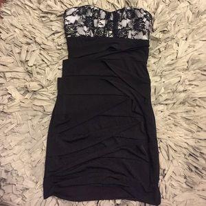Dresses & Skirts - Lace accent pencil dress