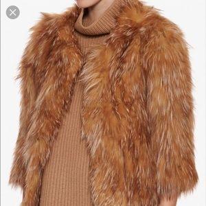 Adrienne Landau Jackets & Blazers - Authentic Beige Exclusive Crystal Fox Fur Jacket