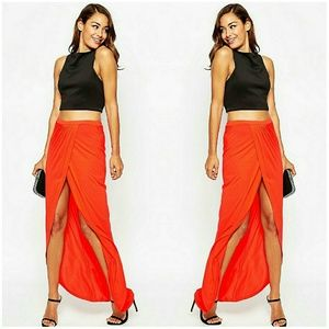 ASOS Wrap Maxi Skirt