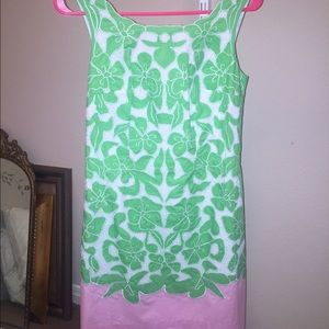 Lilly Pulitzer shift size 0 pink and green