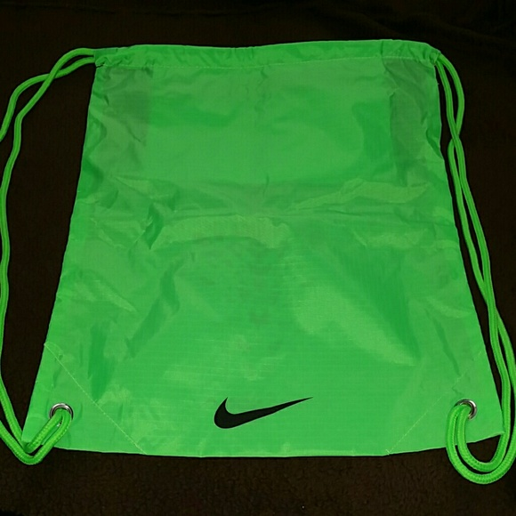 NIKE Lime   Black doublesided drawstring bag. M 57052247f0137db11a00d8cd fc21787e39