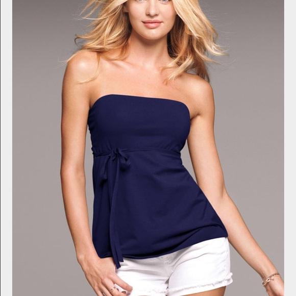 4fdb7e8763 Sexy Victoria's Secret blue strapless bra top. M_57052f6d4e8d177940003e81
