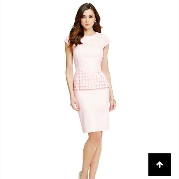 bec625f2fd Antonio Melani pink peplum dress