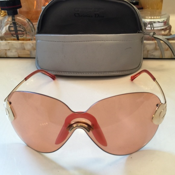 102a0eeda423d Christian Dior Accessories - Christian Dior Oversized Sunglasses Pink Frame