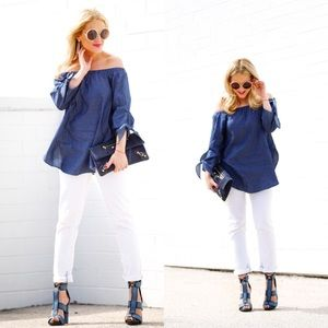 NEW! Denim Off The Shoulder Top/Tunic (S)
