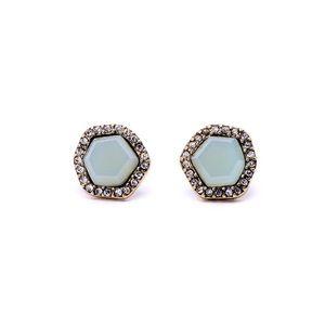 Jewelry - Beautiful Blue Hexagon stud earrings