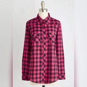ModCloth Tops - NWT ModCloth Tales From the Trail Plaid Top