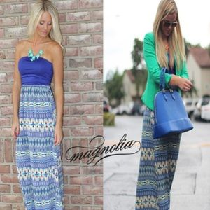 MOVING SALE❗️Colorful Tribal Print Maxi Dress