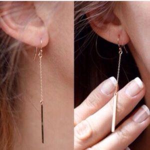 Jewelry - BOGO🤑 Minimalist Modern Gold Bar Dangle Earrings