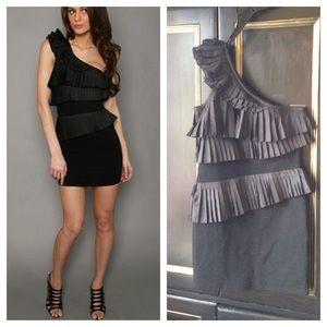 Blaque Label Dresses & Skirts - Blaque Label one shoulder pleated ruffle hot dress