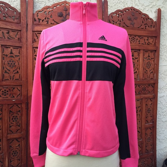 Pink and black track jacket