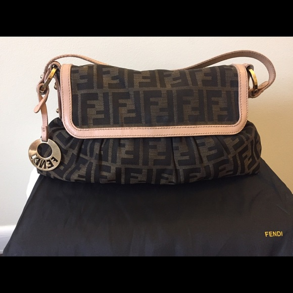 FENDI Bags   Zucchini Chef Small Shoulder Bag Pink   Poshmark 3c511edc73