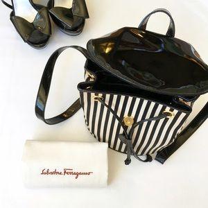 Salvatore Ferragamo Handbags - Salvatore Ferragamo Striped Backpack