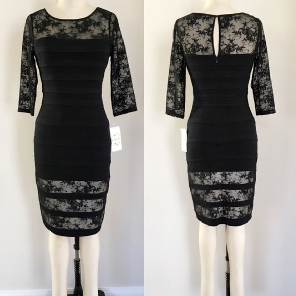Sangria Dresses Black Lace Sheath Dress Size 6 Poshmark
