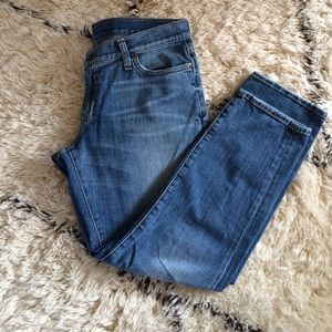 """Red Engine  Denim - Red Engine """"Hot Rod"""" cropped jeans."""