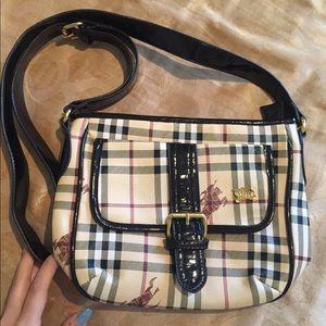 Handbags - Checkered Cross-body Purse