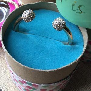 Gold cuff bracelet in gift box