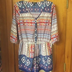 Other - Patterned romper!