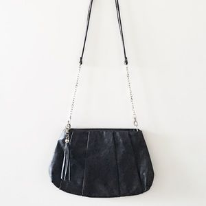 ALDO Handbags -   Aldo   Tassel Crossbody in Black & Silver 🔲