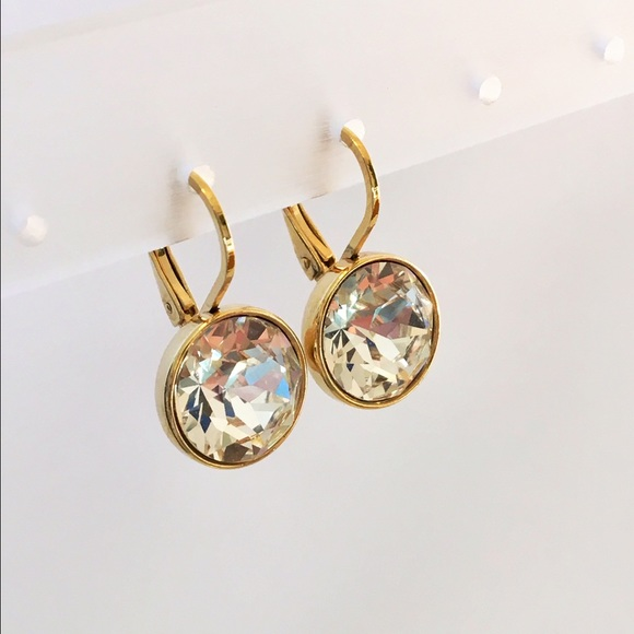 3877110f4 Borun Crystal Jewelry | Small Earrings Made With Swarovski Crystals ...