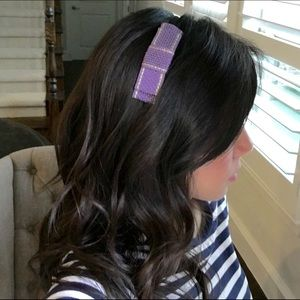 Ficcare Accessories - Ficcare Flat Bow Headband (Violet/Yellow)