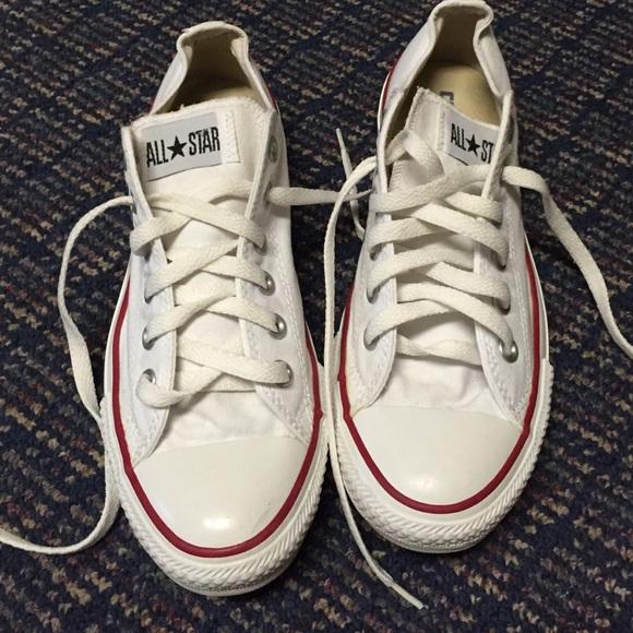 6e588c1ecefe49 Converse Shoes - White converse size 9. Very clean!