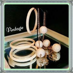 VINTAGE Bangles & Long Necklace