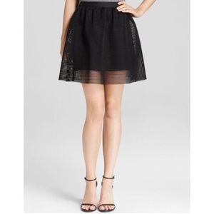 JOA black mesh skirt