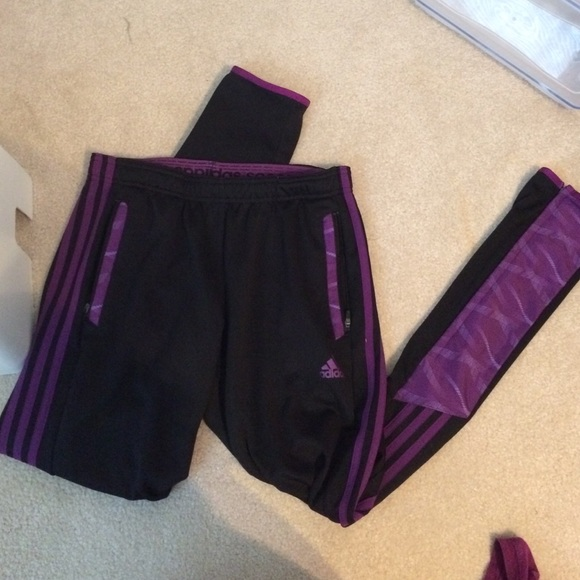 d4dc1ff70da8 Adidas Pants - Adidas purple and black soccer pants