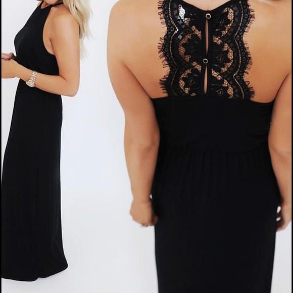 94f03b8c94c2 Restock Coming Soon✨💕Black Lace Back Maxi Dress from Anchored ...