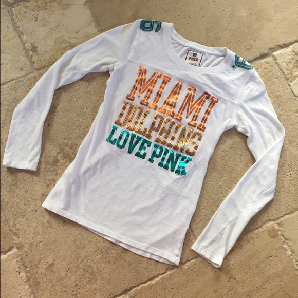 new style c8d15 eb71c PINK by Victoria's Secret Miami Dolphins T Shirt