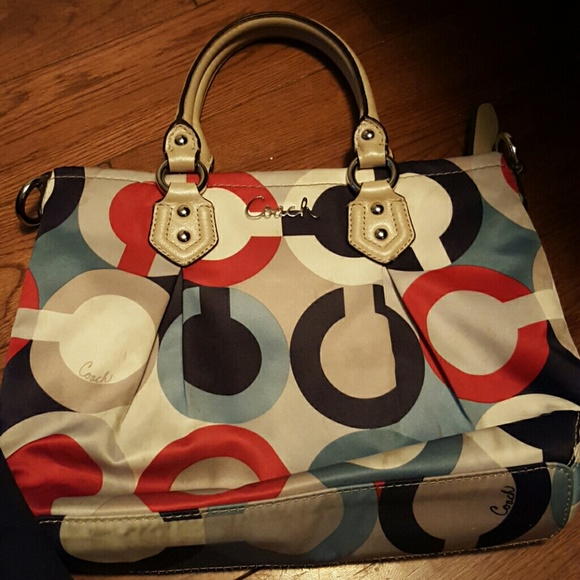 Coach Bags Red White And Blue Purse Poshmark