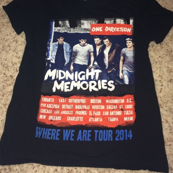 Black Midnight Memories One Direction Ladies Tee