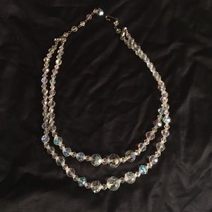 Jewelry - Vintage crystal choker necklace