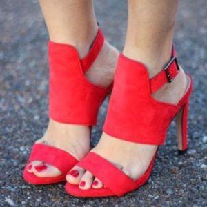 85002f9d677 Zara Shoes - Zara red wrap around sandal