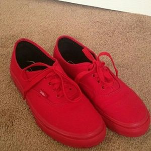 Red Crimson Red Vans   Poshmark