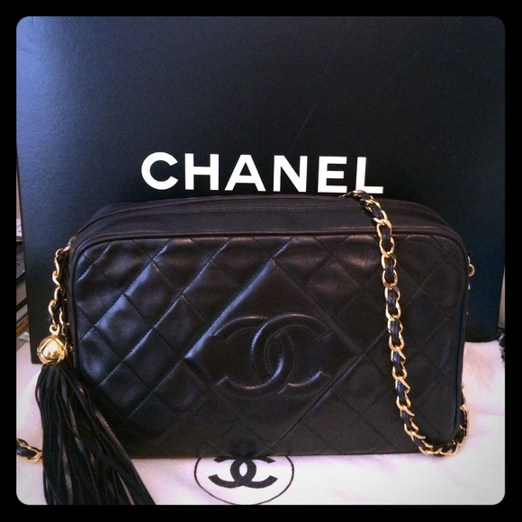 15713183161e20 CHANEL Handbags - Vintage Chanel quilted handbag with tassel