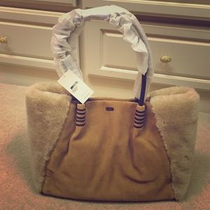 007e101c64 UGG Bags - UGG Australia Heritage Suede and Leather Tote