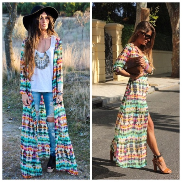 31c3f7b4 ... Zara Tie Dye Maxi Dress. M_5705b403ea3f3683f4011c5c