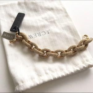 Brand new J Crew pave link bracelet NWT