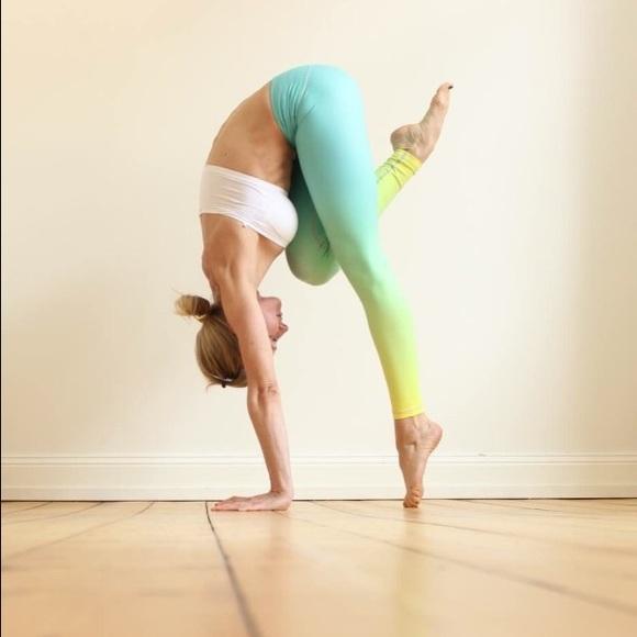 Mint Neon Yellow Ombré Yoga