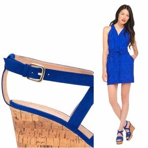 b40e881a9940 JustFab Shoes - Cobalt Blue Platform Wedge Sandals