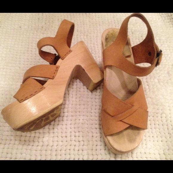 No. 6 Shoes | No6 Platform Clogs In 35