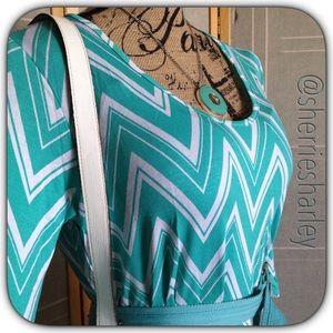 Bellino Clothing Tops - 🎽Plus Sz 1XL Aqua Aztec Tunic Caftan  Dress NWT