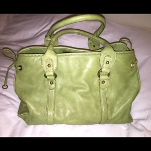 Jcrew Green Leather Tote